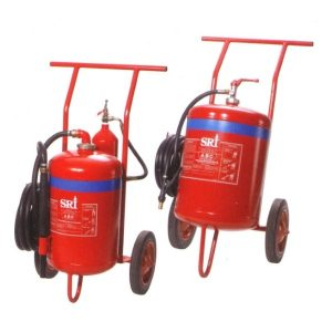 Powder and Foam Fire Extinguisher on Trolley