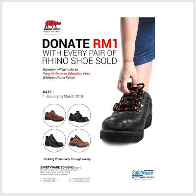 Donate RM1 with Every Pair of RHINO SHOE Sold
