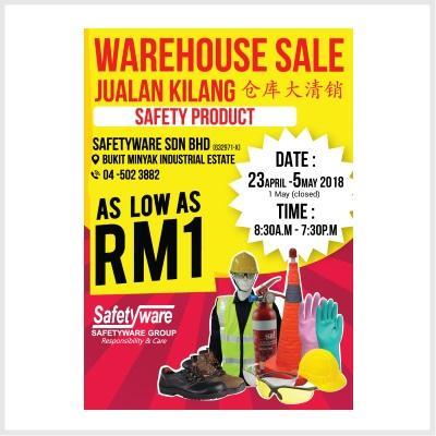 Warehouse Sales (23 Apr - 05 May 2018)