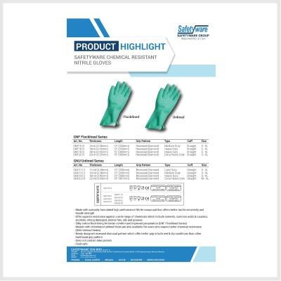Product Highlight - SAFETYWARE Chemical Resistant Nitrile Gloves