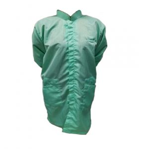 Safetyware Cleanware™ Antistatic Smock With China Style Collar